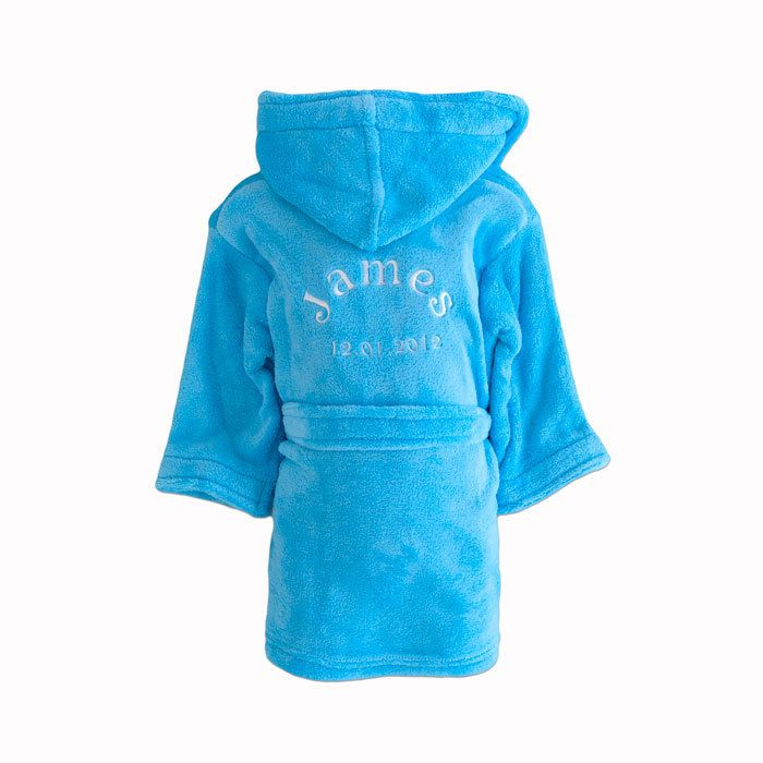 Personalised Blue Childrens Dressing Gown Babies