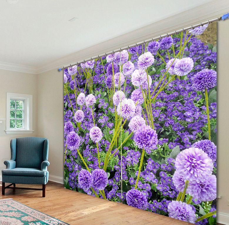Günstige Schöne Blumendruck 3D Blackout Vorhänge Für Wohnzimmer Bettwäsche  Home Decor Wandteppich Teppich Vorhänge Cotinas,