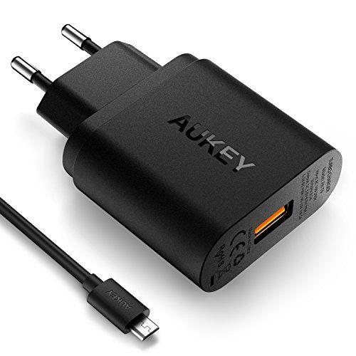 AUKEY Quick Charge 3.0 Chargeur Secteur USB 19.5W, Chargeur Adaptateur Secteur Portable aussi compatible avec Quick Charge 2.0 pour Galaxy…