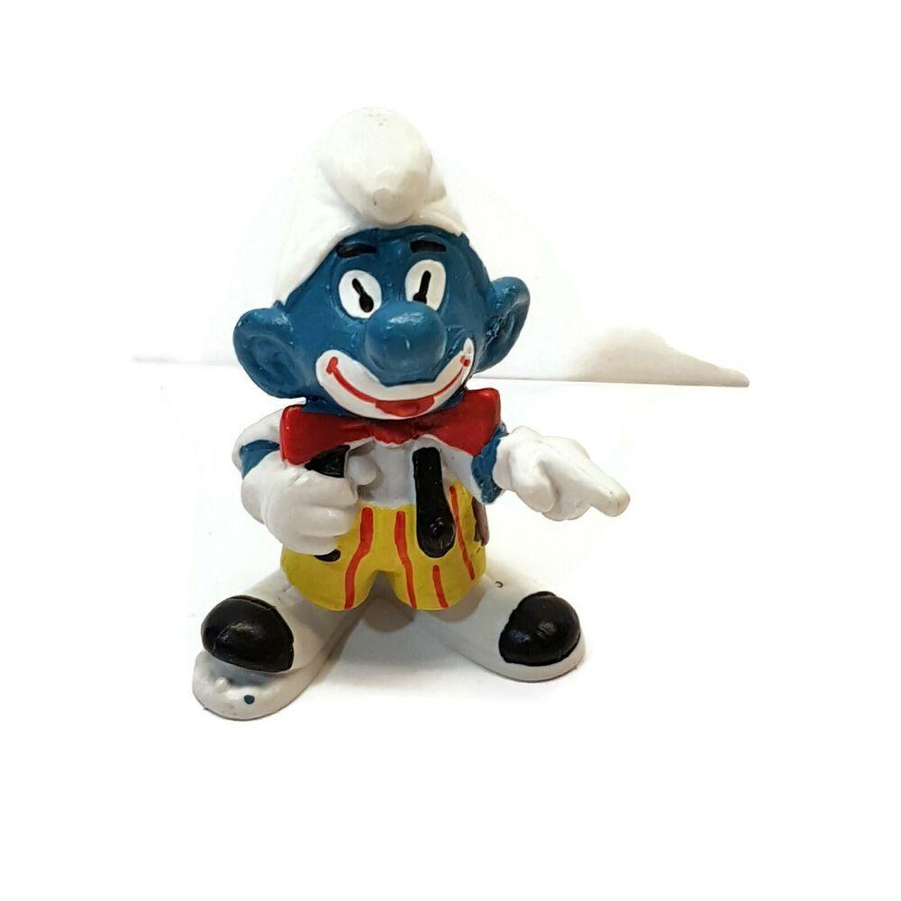 Smurfs 20017 Vanity Smurf Mirror Vintage Figure Rare PVC Toy Figurine 70s Peyo