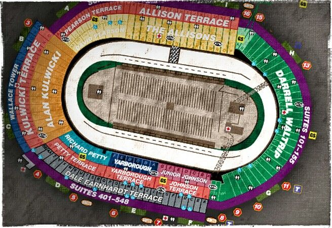 Bristol Seating Map Nascar Race Track Map