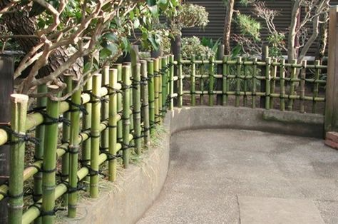 Bamboo Fence, A Part Of The Japanese Garden.