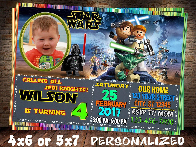 Lego Star wars invitation. Lego invitation. Star wars invitation ...
