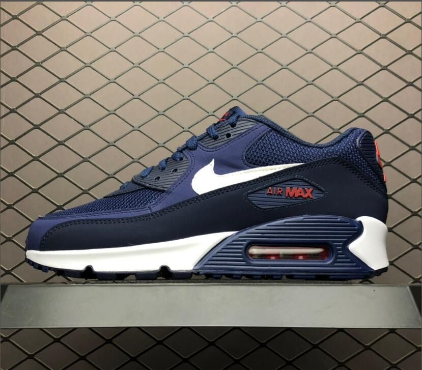 Nike Air Max 90 Essential Midnight Navy White Sneakers