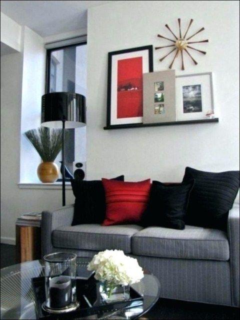 27 grey living room walls  red living room decor living