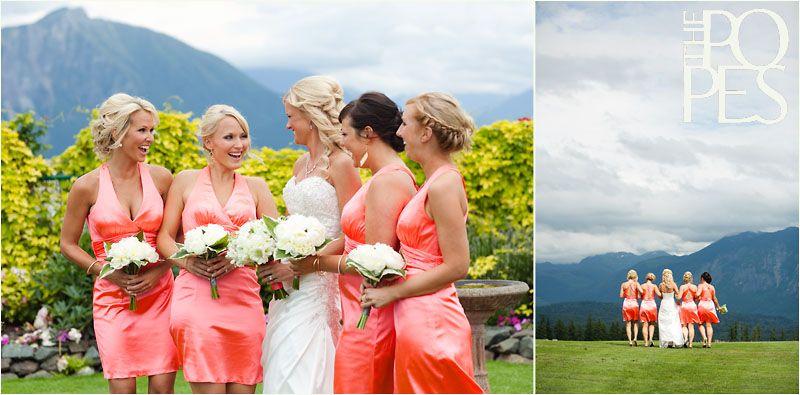 Jen & Clark Snoqualmie Ridge Golf Club Wedding Coral