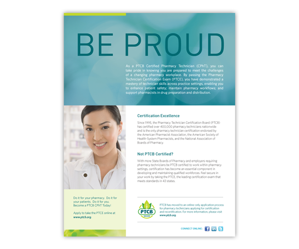 Be Proud Ad, Pharmacy Technician Certification Board