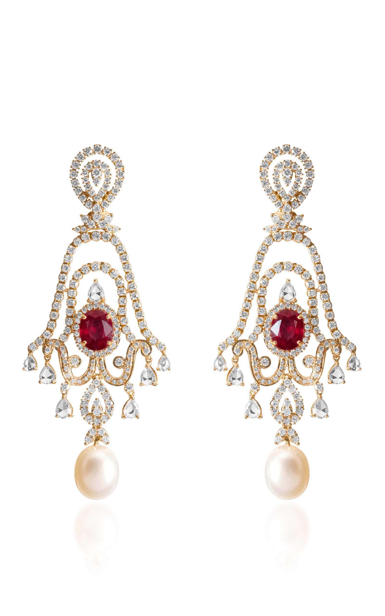 Pearl and Diamond Necklace Farah Khan Ali Beautiful pearls