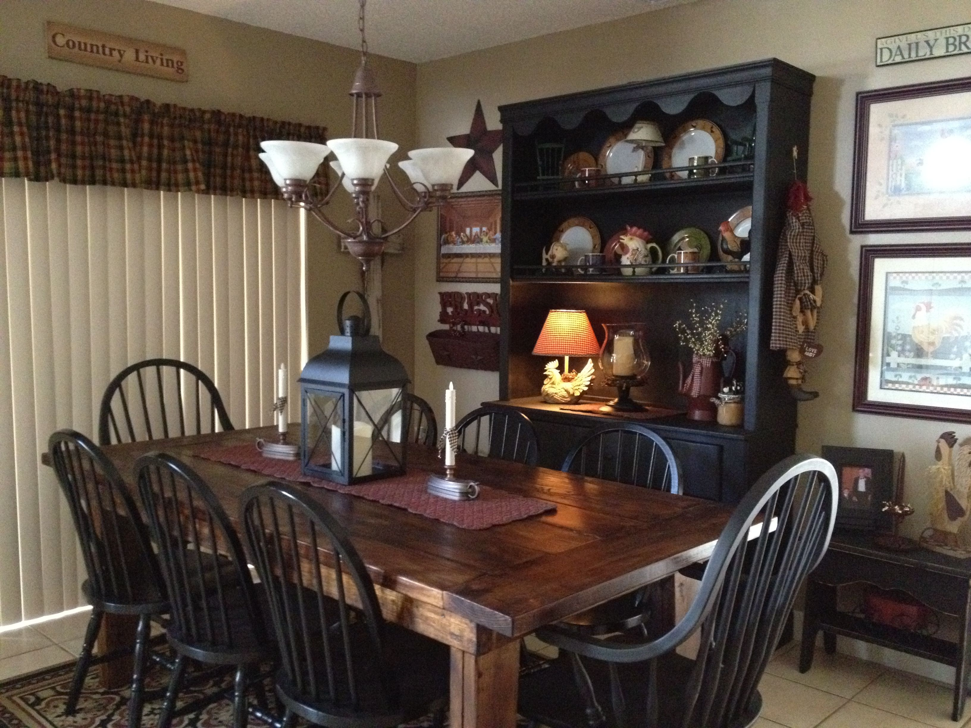 Love This Dining Room …  Home Decor  Pinterest  Primitives Impressive Primitive Dining Room Sets Review