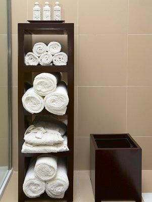 How to Display Bath Towels | Towels, Salons and Salon ideas