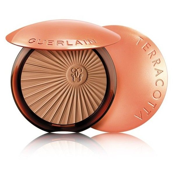 Guerlain Terracotta Sun Tonic Bronzing Powder/0.4 Oz (€45) ❤ liked on Polyvore featuring beauty products, skincare, face care, beauty, brown, moisturizers, guerlain skin care, guerlain and guerlain skincare