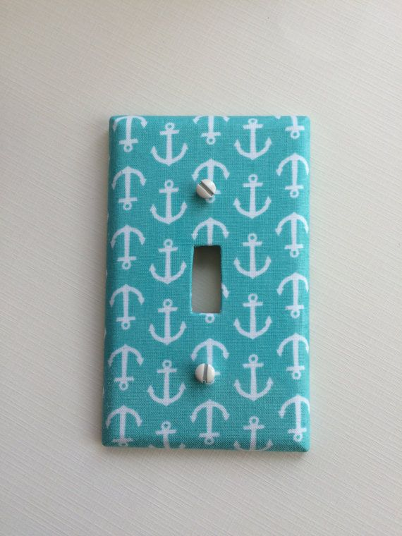 Photo of Nautical Decor, Light Switch Cover, Nautical Bridal Shower, Nautical Wall Decor, Nautical Nursery, Nautical Baby Shower, Beach Nursery