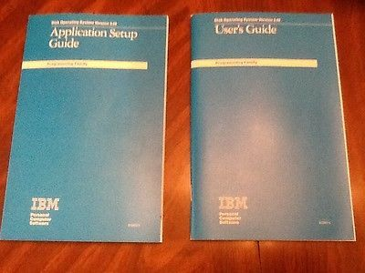 Lot of 2 vintage IBM DOS 3.0 manuals first editions 1985 application setup users