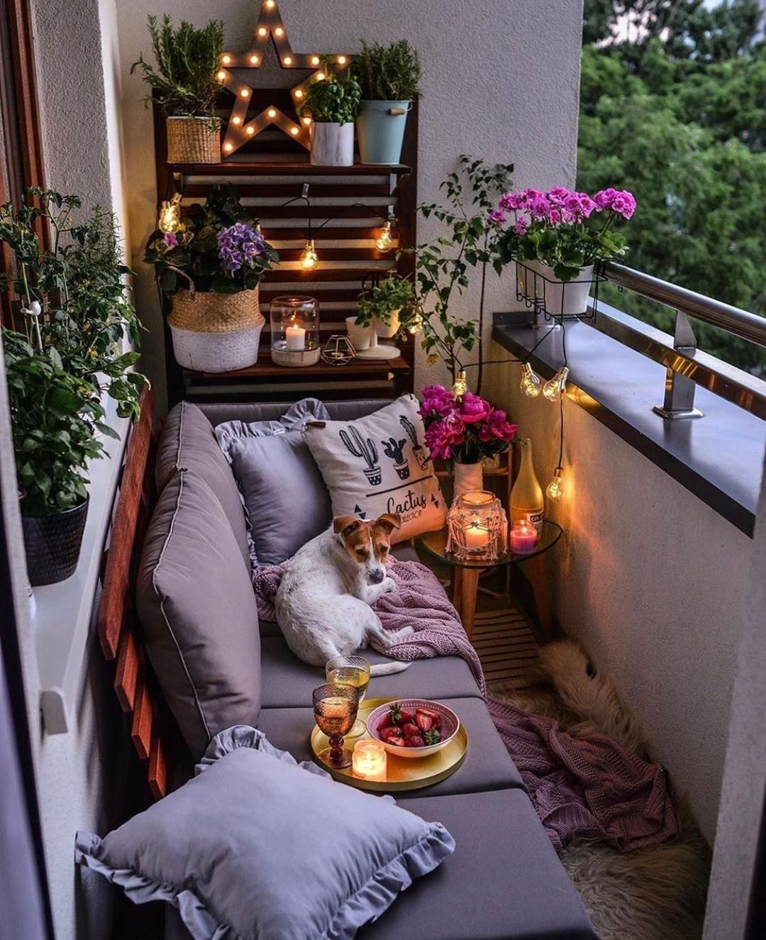 """EasyLeaf on Instagram: """"Sweet and romantic back porch set up"""