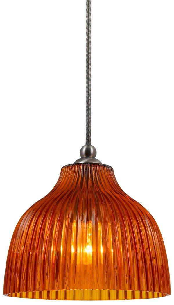 Amber Prismatic Gl Pendant Light Pn1070