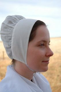 """Quaker Style """"Caroline"""" Cap from Rachel's Seamstress Services -- female members of some religious groups in the U.S., including the Amish and the Mennonites, cover their hair."""