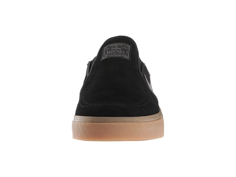 2771bf7c6 Nike SB Zoom Stefan Janoski Slip-on - Suede Men s Skate Shoes Black GunSmoke  Gum Light Brown