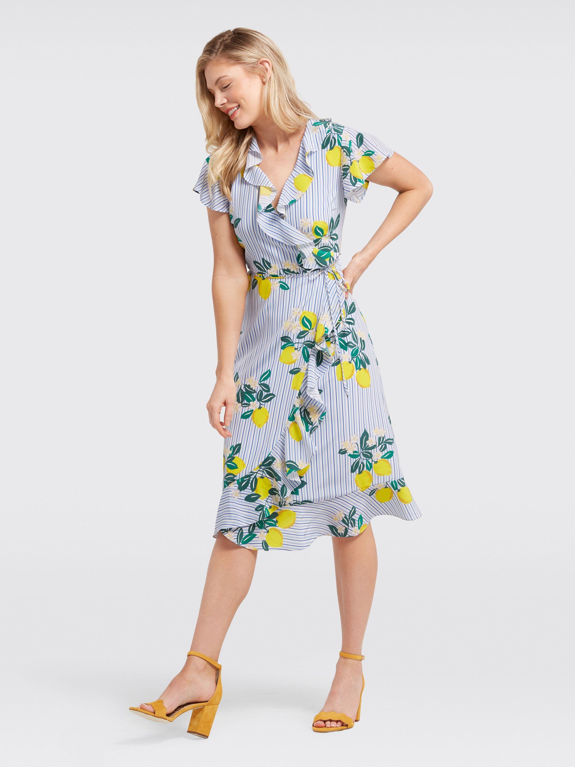 9dc0f0c986a Draper James - Collection Lemon Blossom Floral Wrap Dress