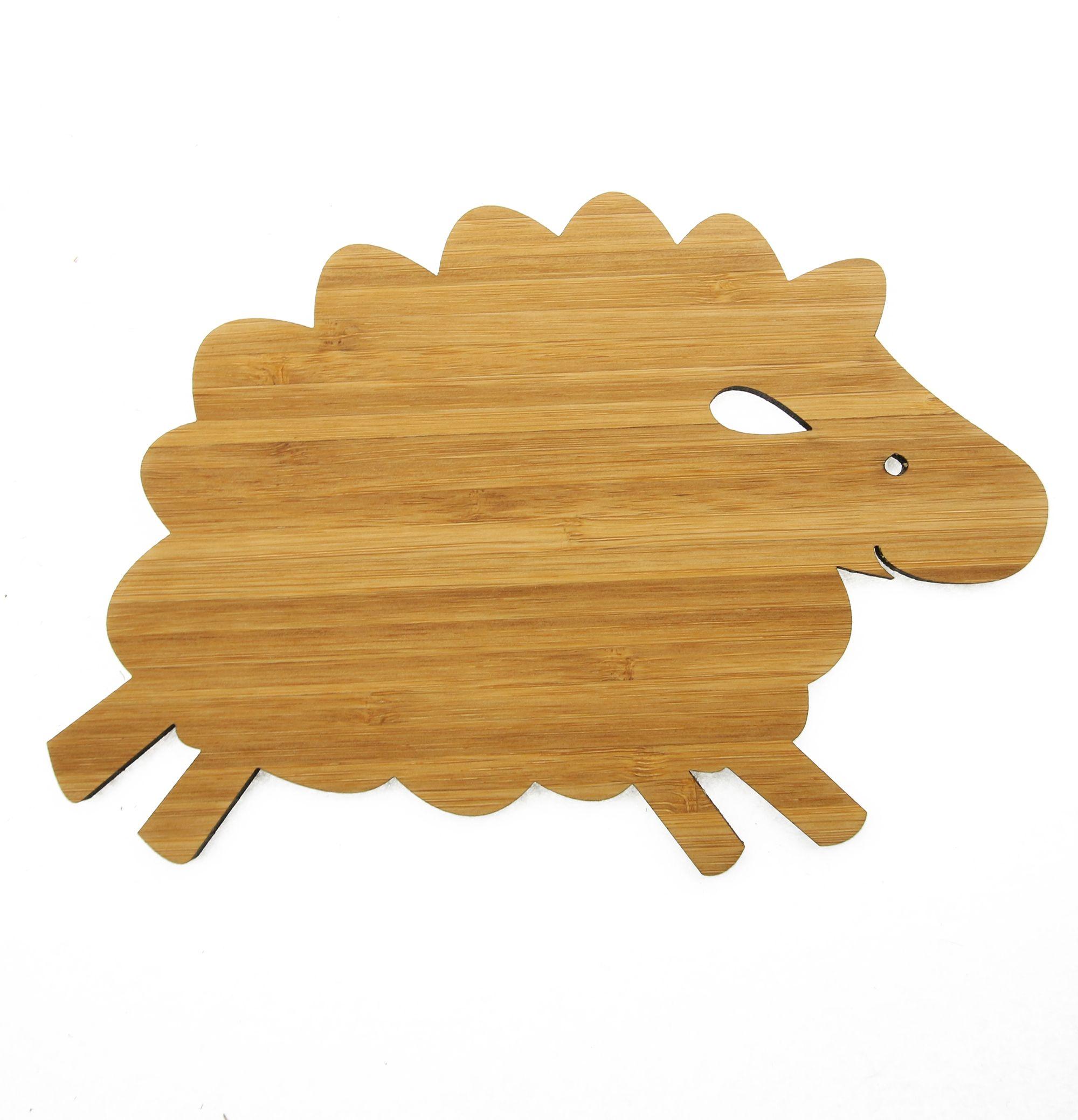 Luxury Wanddeko Schaf aus Bambus Coffee Das Original von Mr u Mrs Panda