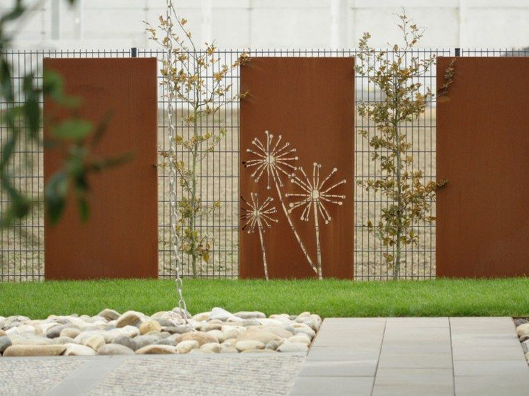 Clôture de jardin corten | Detale ogrodowe | Cloture jardin ...