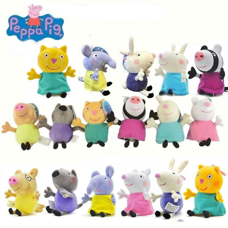 19cm Genuine Peppa Pig Pedro Pony Peppa Pig Rebecca Richard