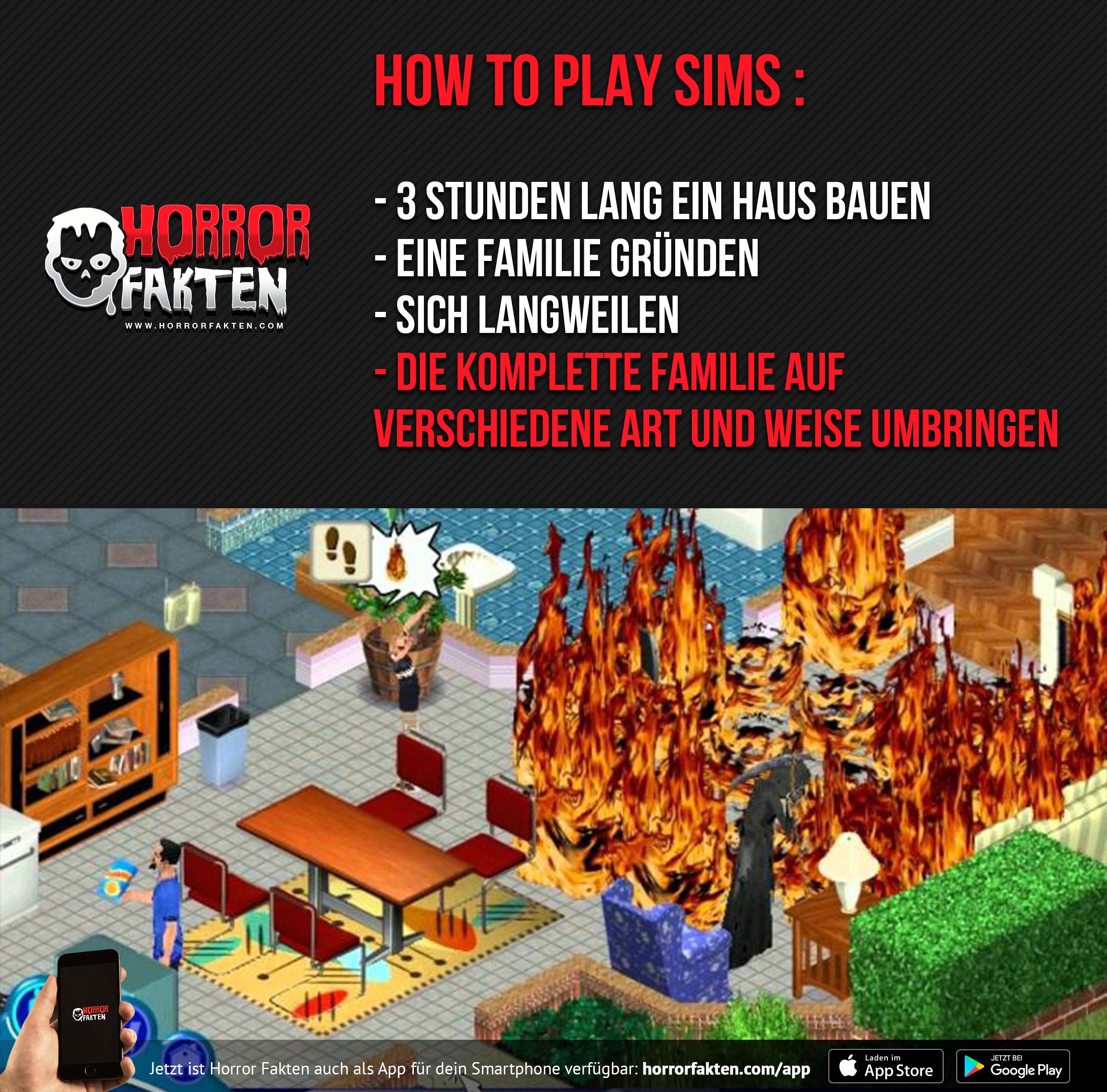 Lieblingsbeschäftigung eines Sadisten - Sims umbringen | Horror ...