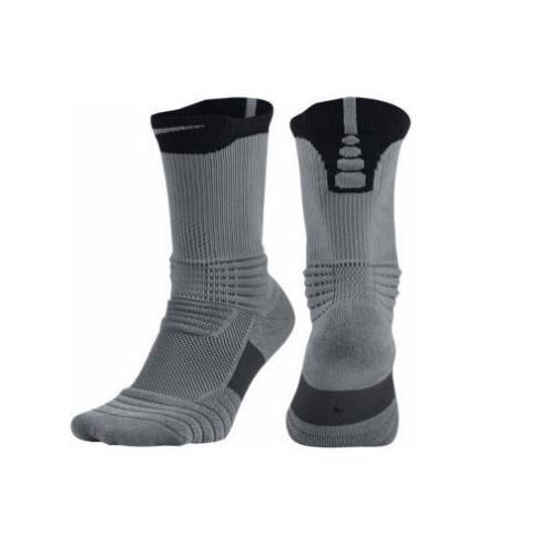 Nike Mens Elite Versatility Dri Fit Crew Basketball Socks Gray Black Sz 8 12 Lrg Nike Basketball Socks Basketball Socks Nike Elite