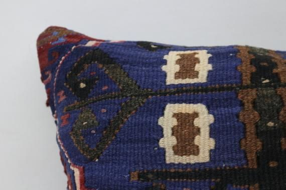 Antique Pillow, Pillow Cover 18x18, Kilim Pillow, Geometric Pillow, Turkish Pillow,Home Decor Pillow