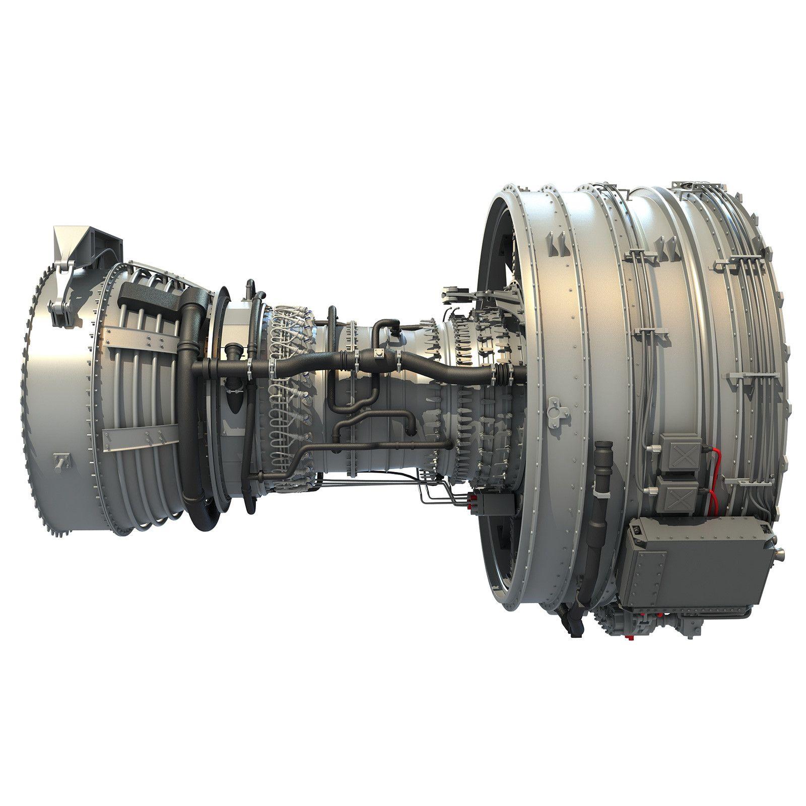 CFM International CFM56 Turbofan Aircraft Jet Engine   3D Aircraft ...