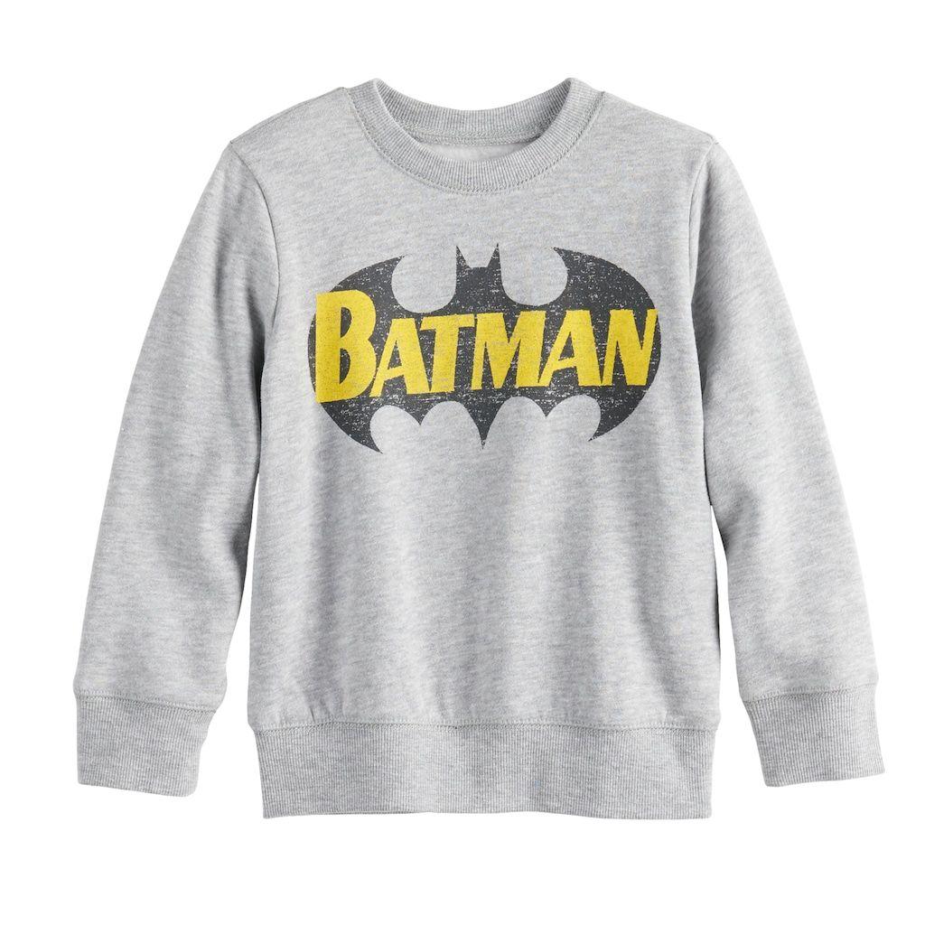 DC Comics Batman Boys Crew-Neck Pullover Sweater