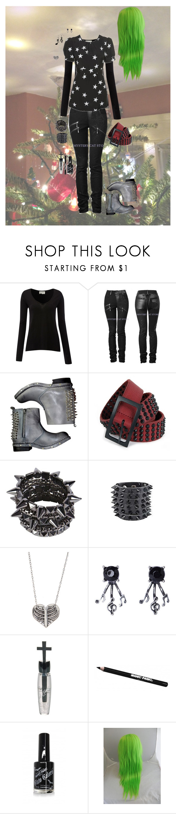 """""""3: Holiday Party"""" by candy-coated-doom ❤ liked on Polyvore featuring American Vintage, Topshop, Jeffrey Campbell, Zadig & Voltaire, Manic Panic NYC, holidays and 1thru4"""