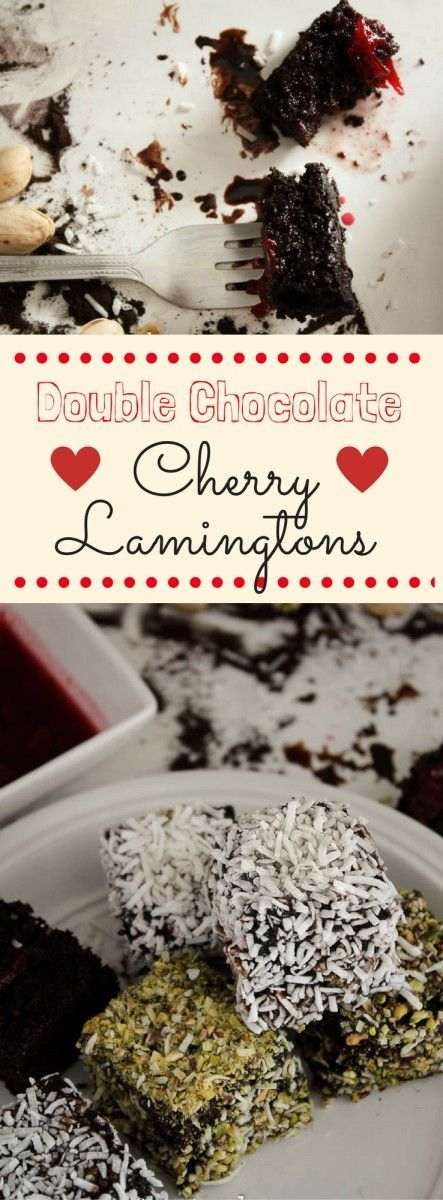 Double Chocolate Cherry Lamingtons. This Valentine's Day, surprise your beloved one with these decadent Double Chocolate Cherry Lamingtons! An easy-to-make, showstopping treat for special occasions!