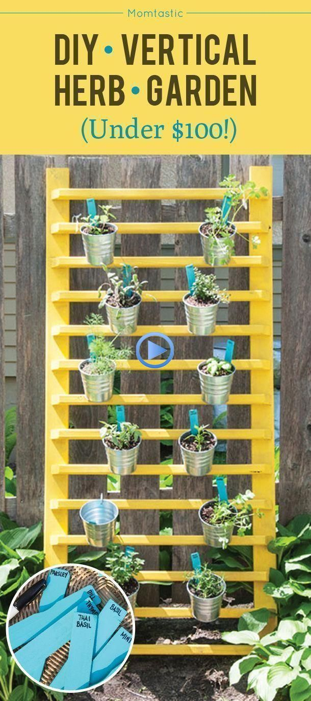 How to make a vertical herb garden for under $ 100 #senkrec ...#garden #herb #se... #gardenin...