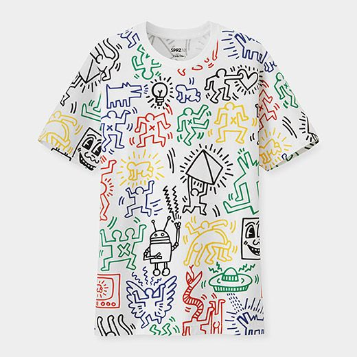 1468d065f UNIQLO Keith Haring Multicolor T-Shirt | store.moma.org | Artist ...