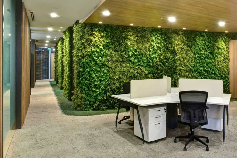 Jardines verticales de interior decorar oficinas con - Jardin vertical interior ...