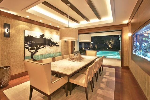 Esszimmer indirekte beleuchtung  indirekte-beleuchtung-esszimmer-decke-aquarium-wand | My sweet Home ...