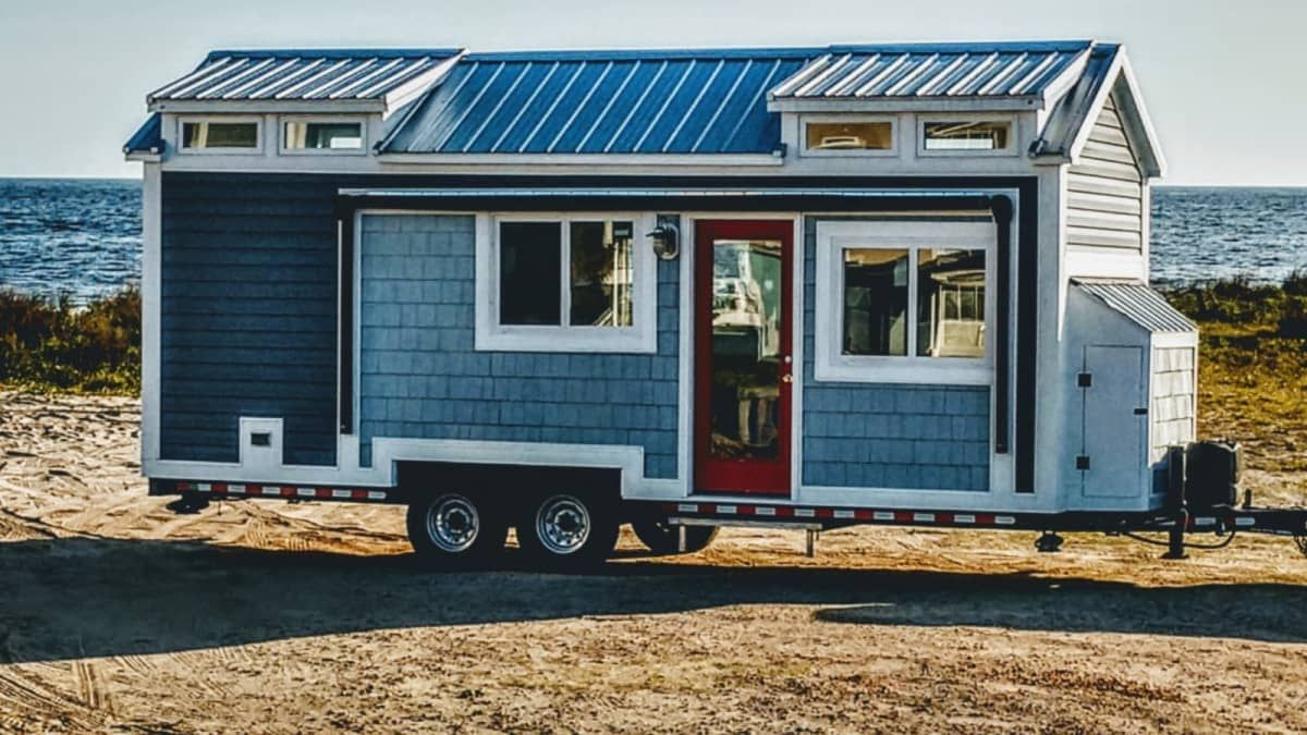Coastal Tiny House With Steel Frame Tiny House For Rent In Oak