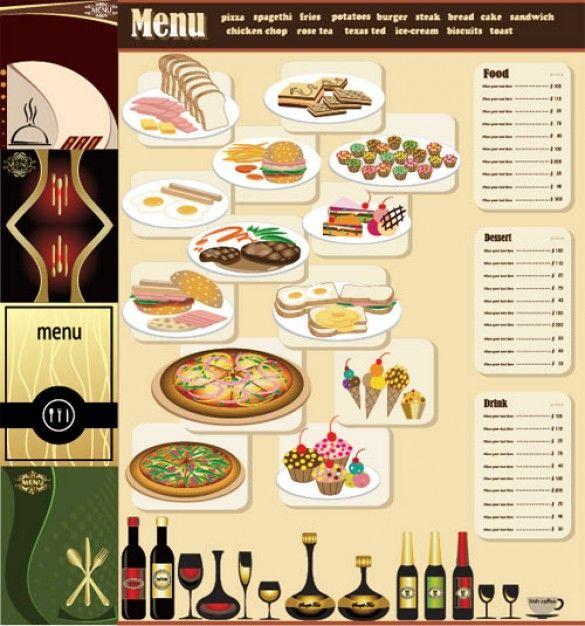 free table top restaurant menu templates Breakfast Menu