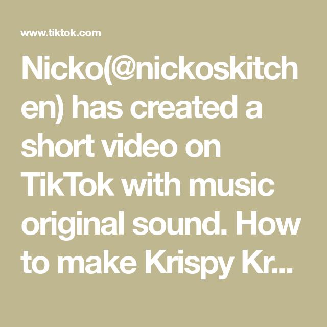 Nicko Nickoskitchen Has Created A Short Video On Tiktok With Music Original Sound How To Make Krispy Kreme Donuts At Home Krispykreme Donut Donuts Fy