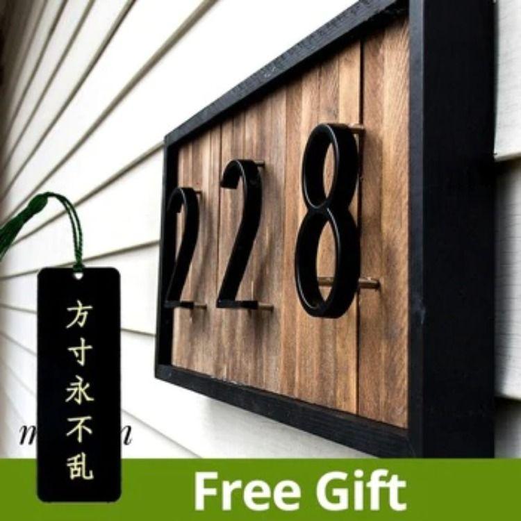 Floating House Number Letters Big Modern Door Alphabet In 2020 House Numbers Floating House Modern Door