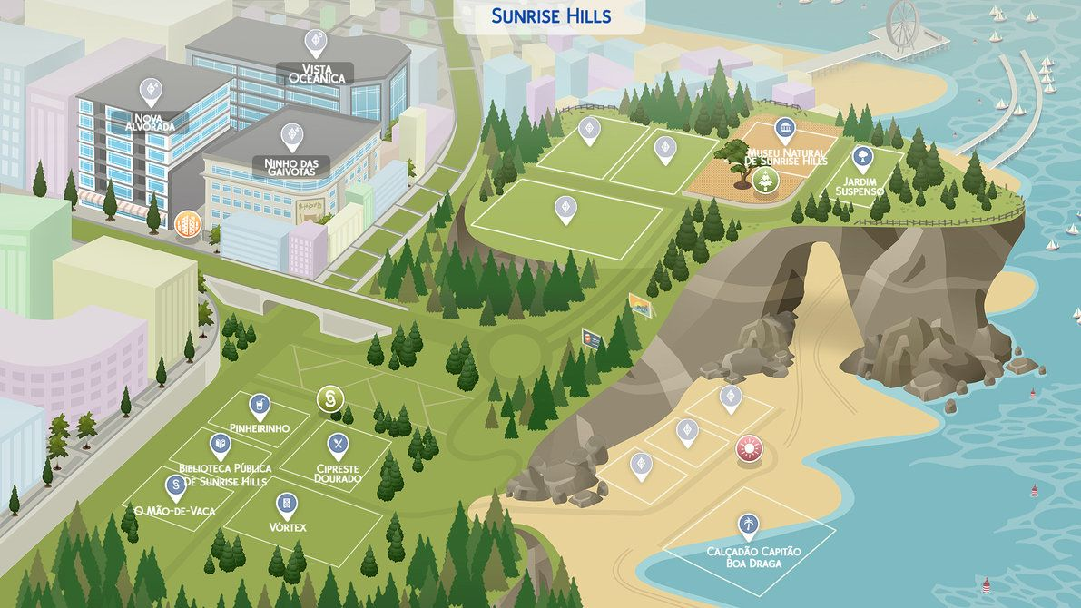 Sims 4 Fanmade Maps) Sunrise Hills by filipesims | Sims4room Sims Map on sims castaway, sims 3 houses, sims 3 university life cover, sims 3 yacht, sims 3 map, sims 3 zombie apocalypse, sims 3 sunlit tides, sims 3 mods, sims 3 train, sims 3 world's best, sims 3 weather, sims medieval map,