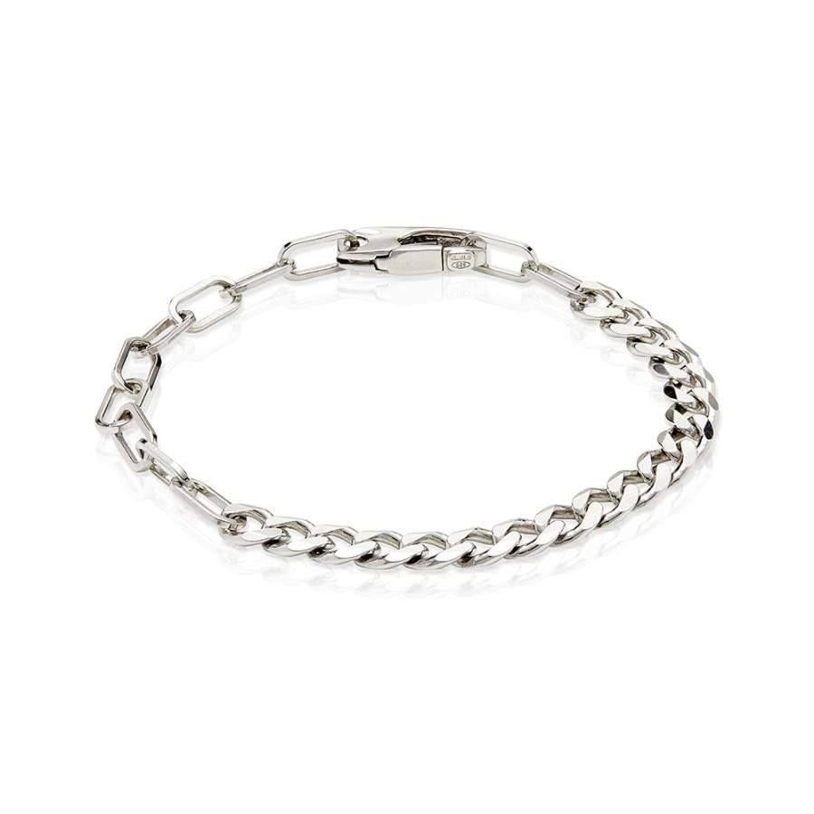 df6b7cf7e49 Men's Sterling Silver Gourmette & Rolo Bracelet #sterlingsilverjewellery  #jewellery #silver #antoniomarsocci #giftsidea #thinkpositive #accessories  ...