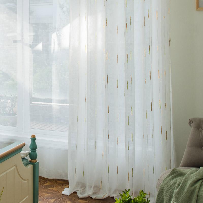 Korean Aesthetical Sheer Curtain Versatile Jacquard Sheer Curtain