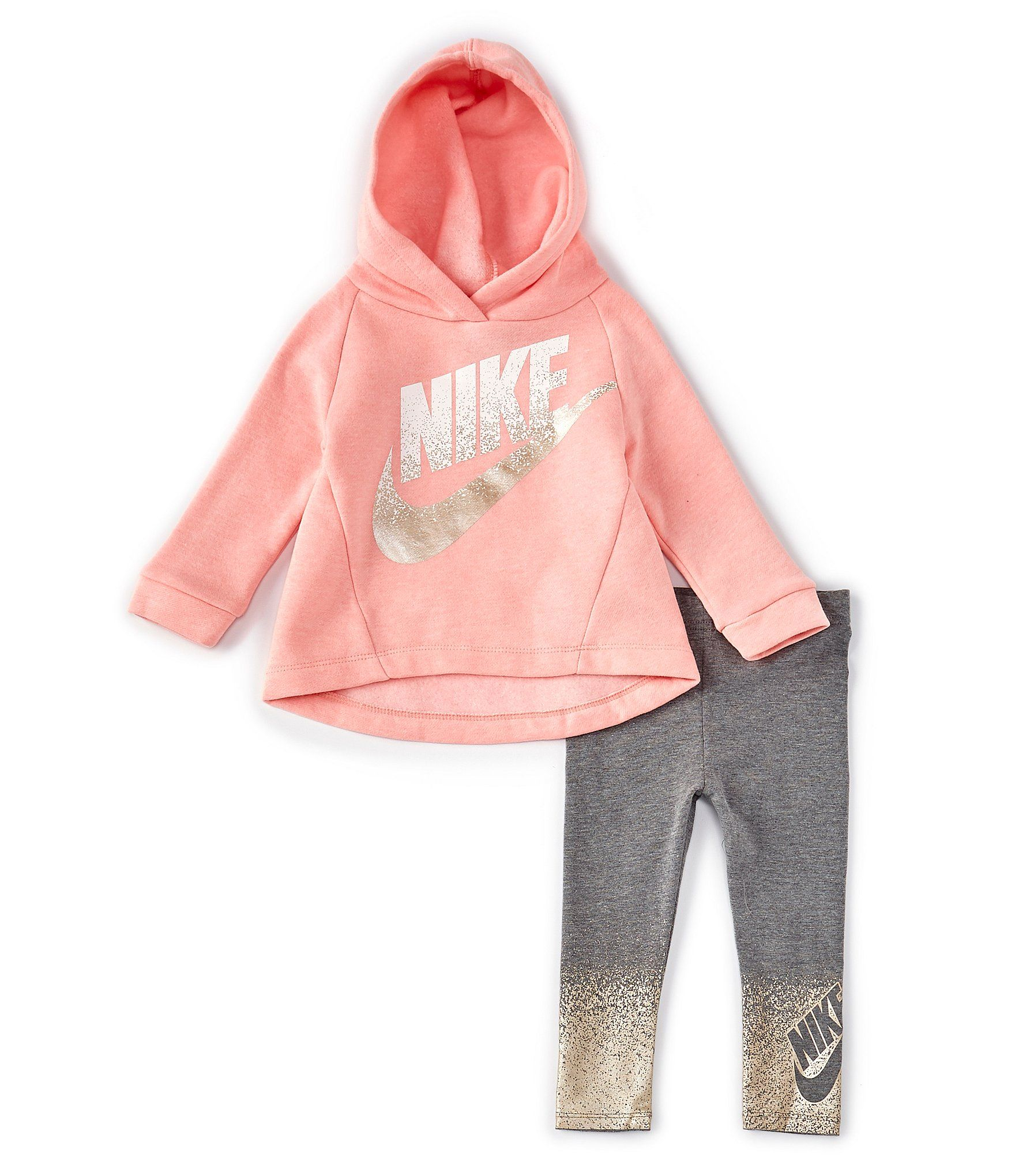 Nike Baby Girls 12 24 Months Nike Air Fleece Hoodie & Legging Set