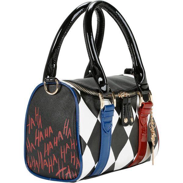 Dc Comics Squad Harley Quinn Mini Barrel Bag Hot Topic 15 Liked On Polyvore Featuring Bags Handbags Shoulder Purses