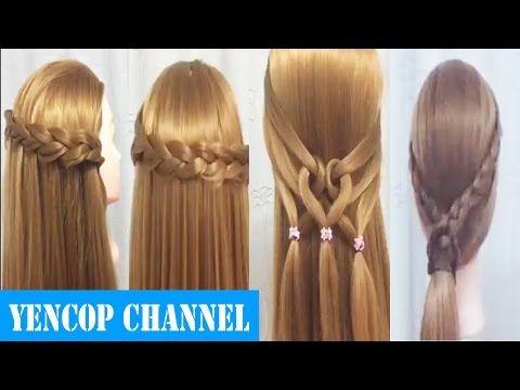 5 Peinados Faciles Y Rapidos Con Cabello Suelto Con Trenzas | Peinado 2015 - 2016 ♥ Yencop - YouTube