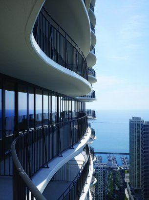 Aqua Tower, Chicago...each balcony is unique.