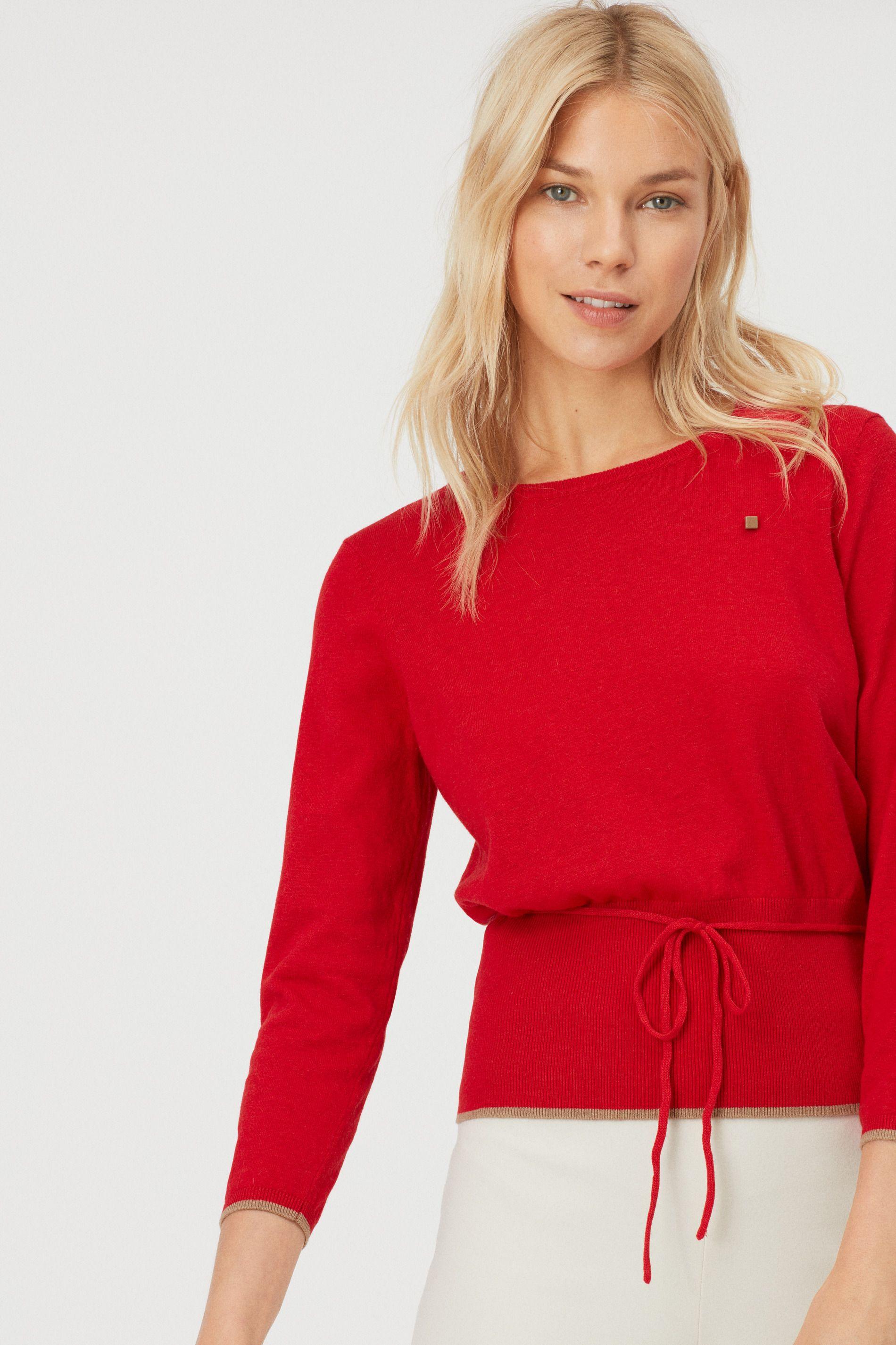 Camisola lã detalhe cordão | Mulher | Purificación García