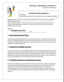 Hypothesis Worksheet - DOC