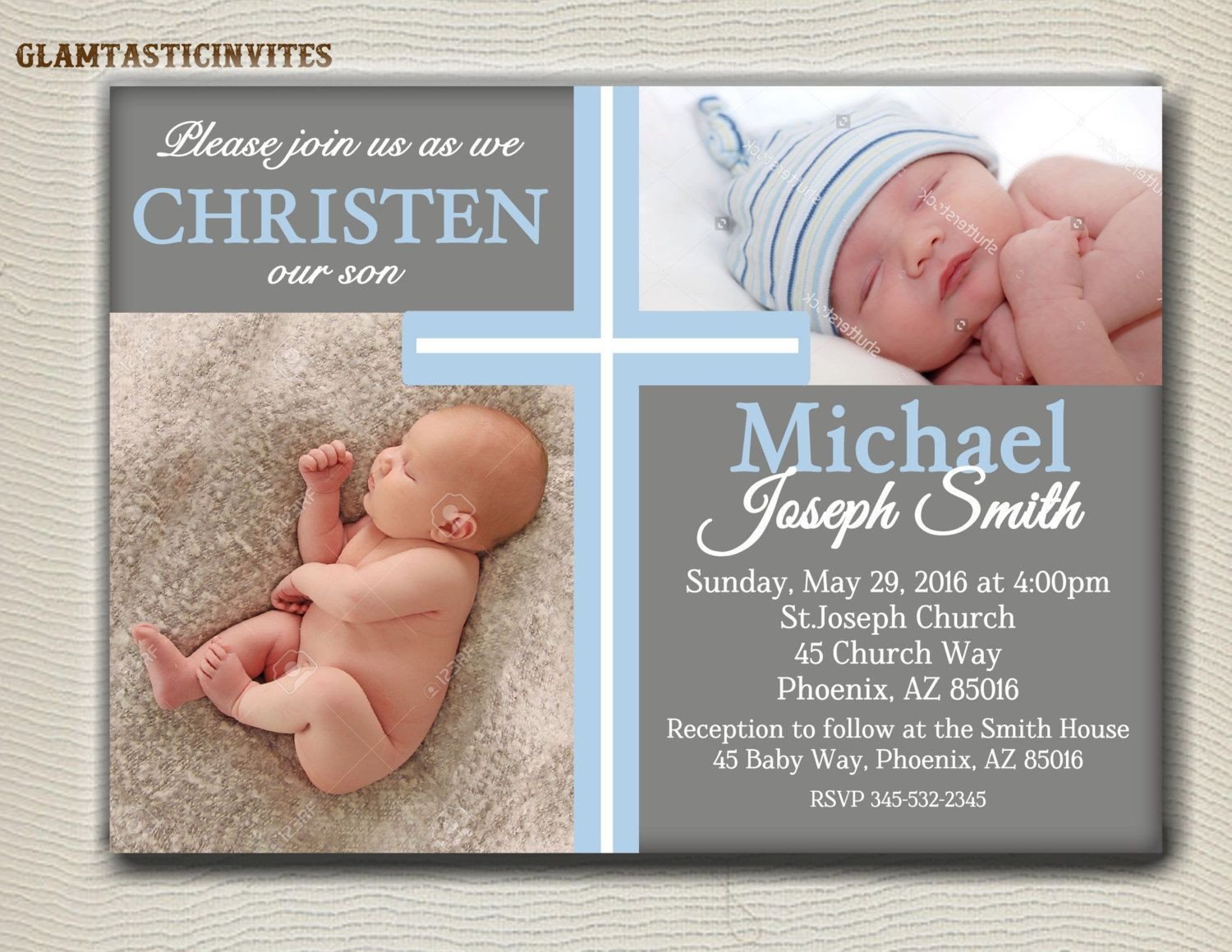 boy baptism invitations background | baptism invitations ...